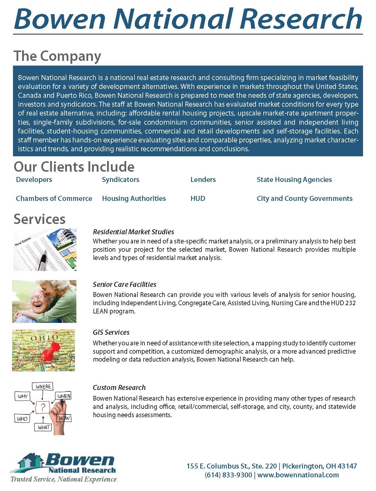 Bowen National Research Company Brochure