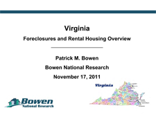 Virginia Foreclosure and Rental Housing Overview Presentation