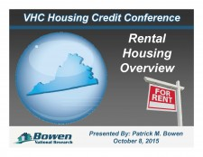 Virginia Housing Credit Conference: Rental Housing Overview